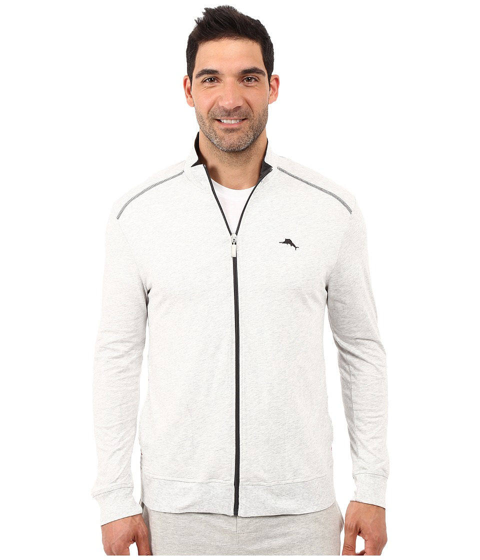 Tommy Bahama - Long Sleeve Full Zip Jacket (Heather Grey) Men's Sweatshirt