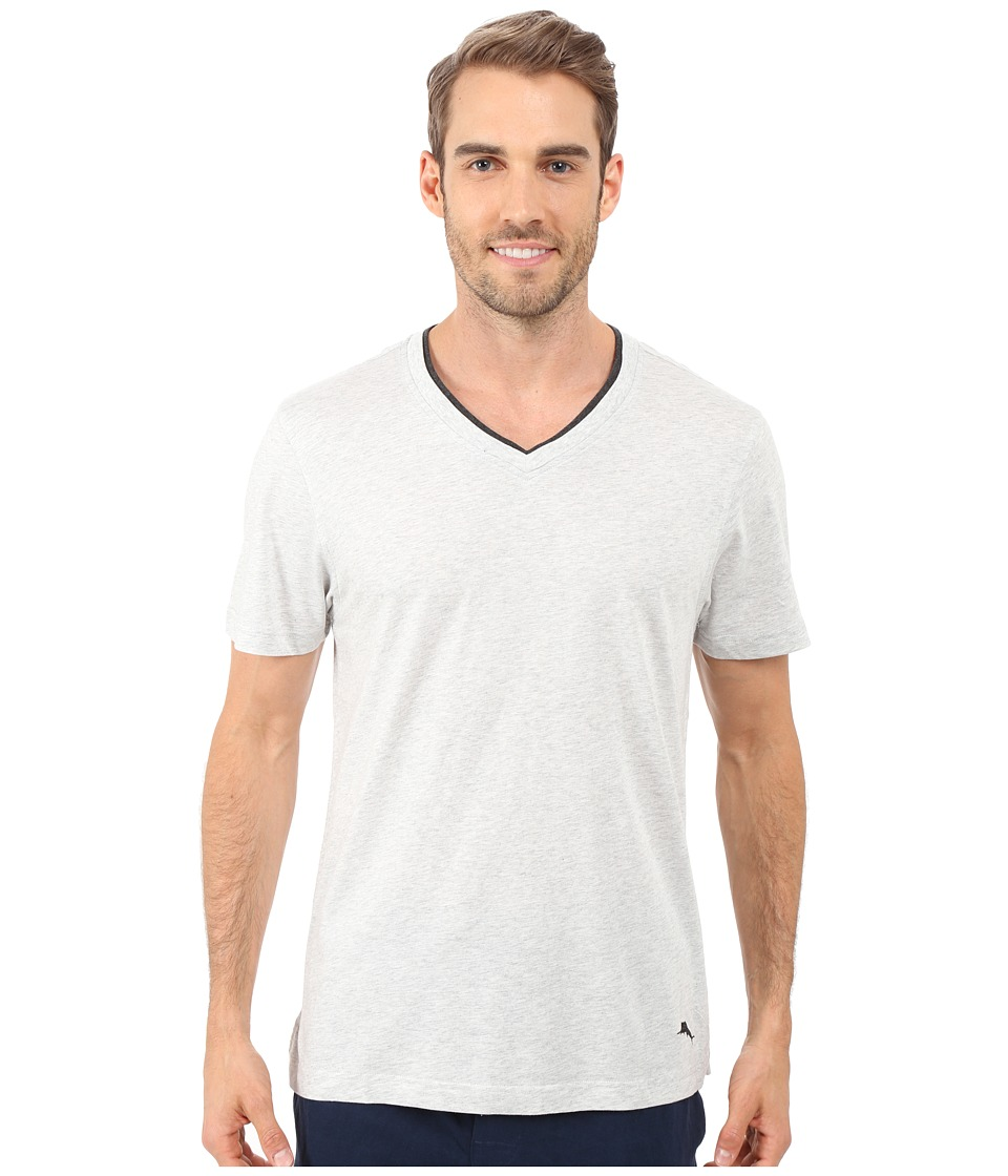 Tommy Bahama - V-Neck Short Sleeve T-Shirt (Heather Grey) Men's Pajama