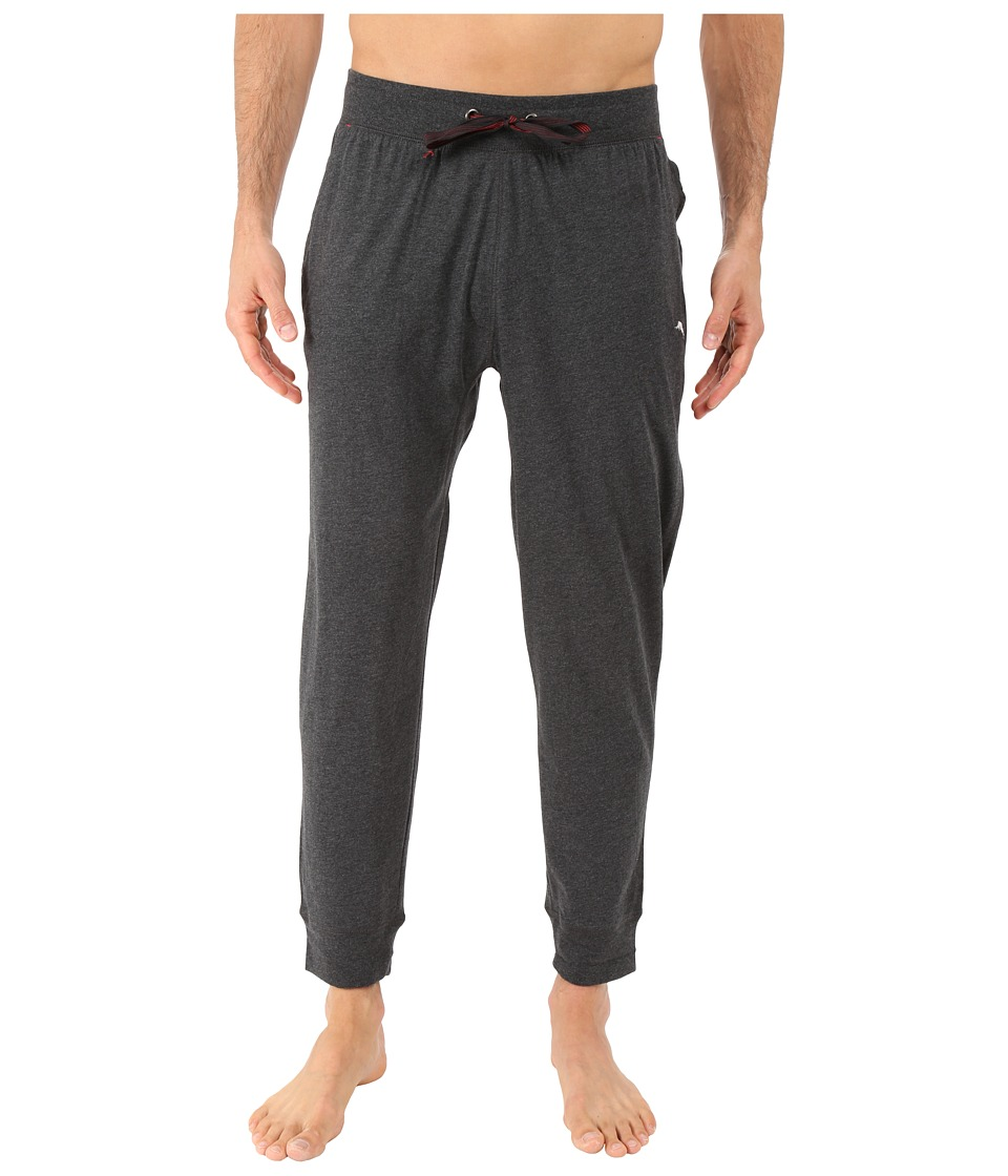 Tommy Bahama - Cotton Modal Knit Jogger Pants (Black Heather) Men's Pajama