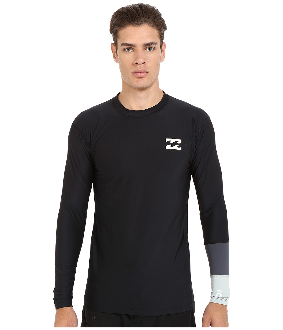 Billabong - Tri Bong Long Sleeve Rashguard (Black) Men's Swimwear