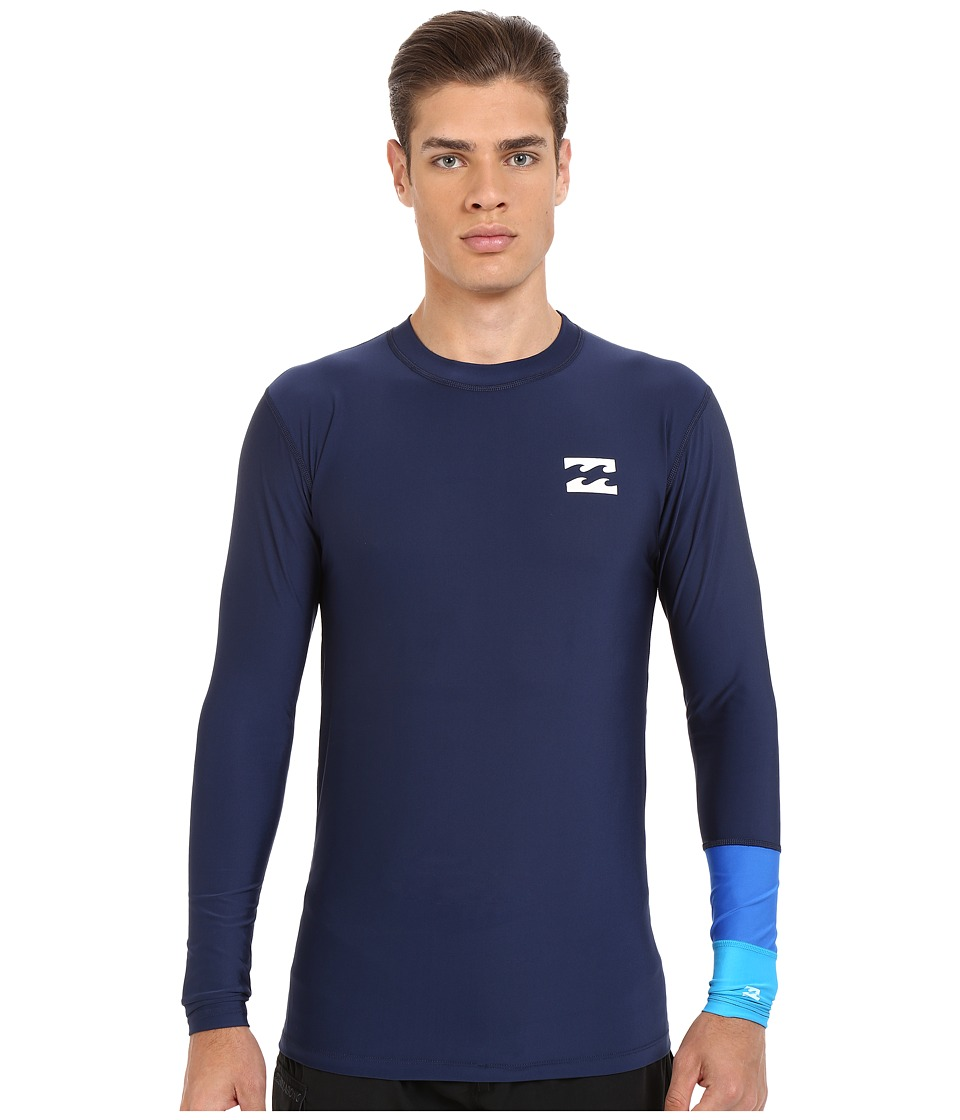 Billabong - Tri Bong Long Sleeve Rashguard (Navy) Men's Swimwear