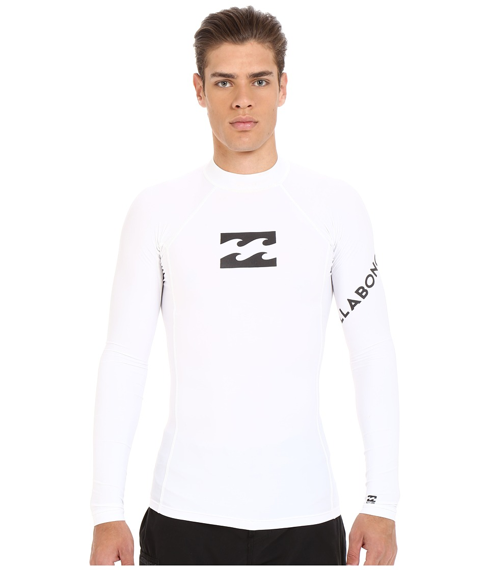 Billabong - Team Wave Long Sleeve Rashguard (White) Men's Swimwear