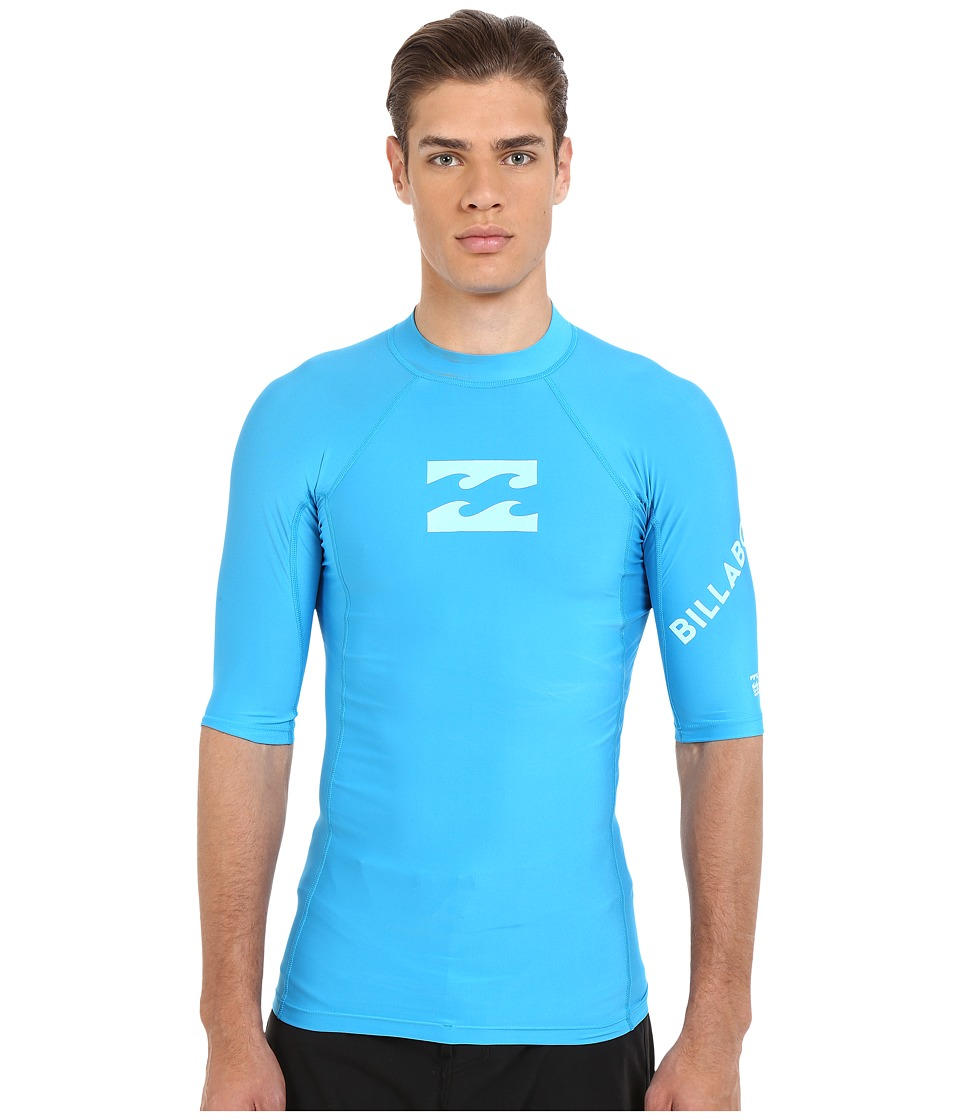 Billabong - Team Wave Short Sleeve Rashguard (New Blue) Men's Swimwear