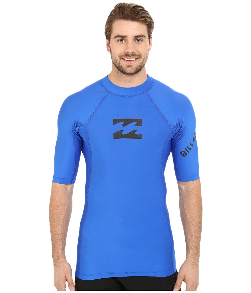 Billabong - Team Wave Short Sleeve Rashguard (Royal) Men's Swimwear