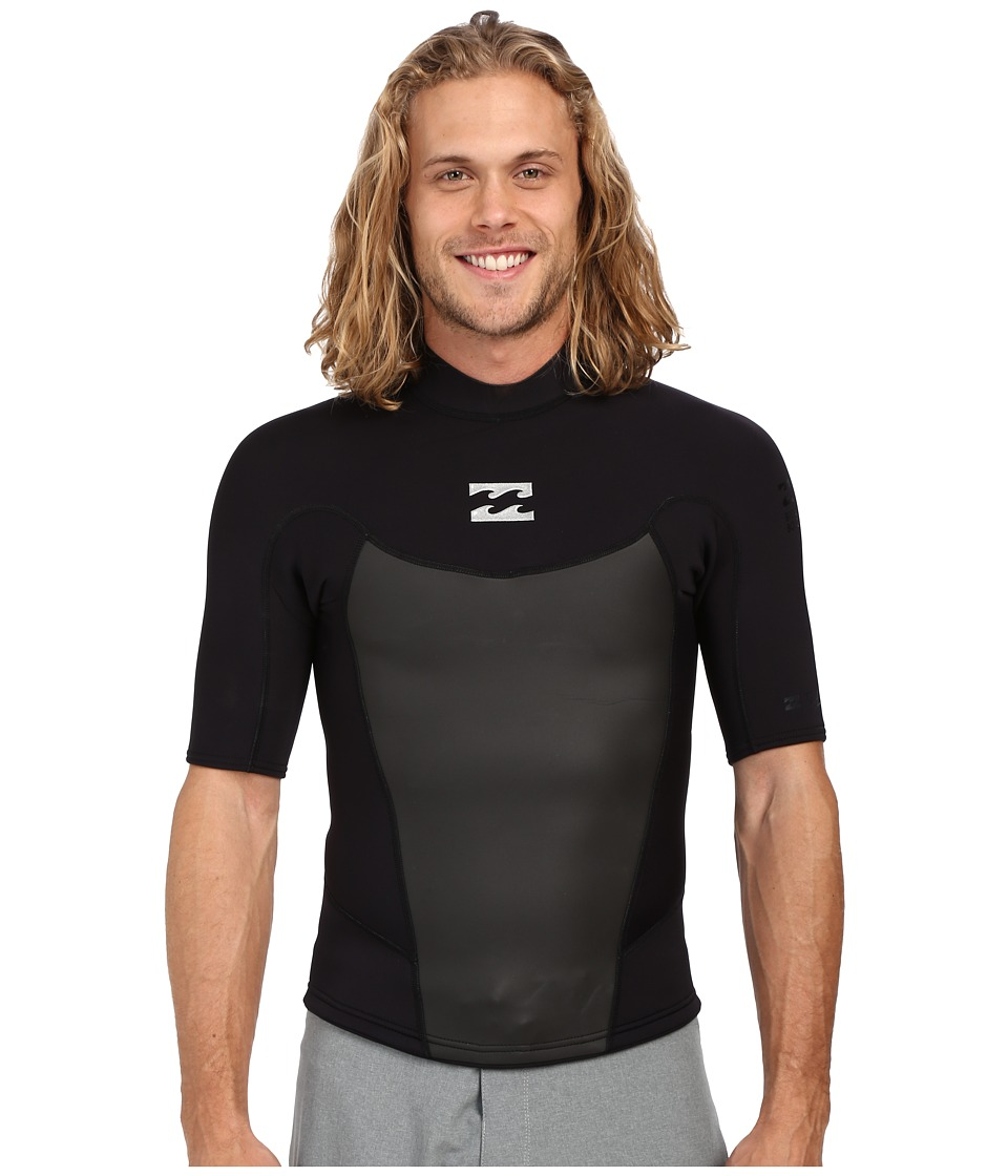 Billabong - 202 Foil Short Sleeve Surf Jacket (Black) Men's Swimwear