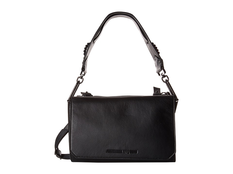 McQ - Vail Smooth Leather Shoulder Bag (Black) Shoulder Handbags
