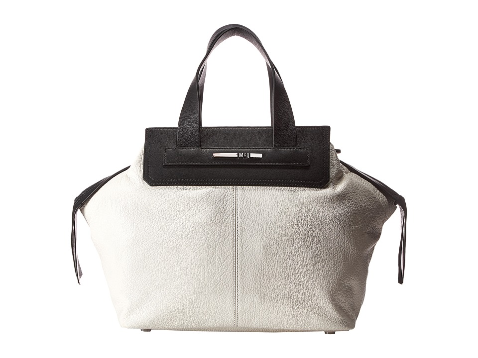 McQ - Shrunken Goat Zip Tote (White) Satchel Handbags