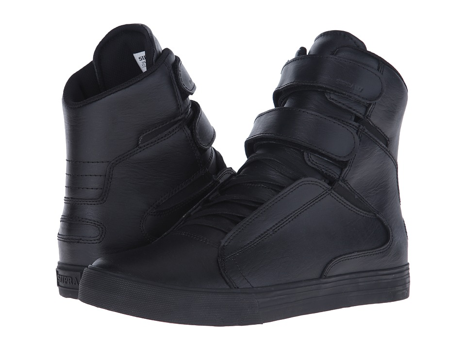 Supra - Society II (Black/Black/Red) Men's Skate Shoes