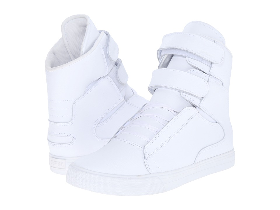 Supra - Society II (White/White/Red) Men's Skate Shoes