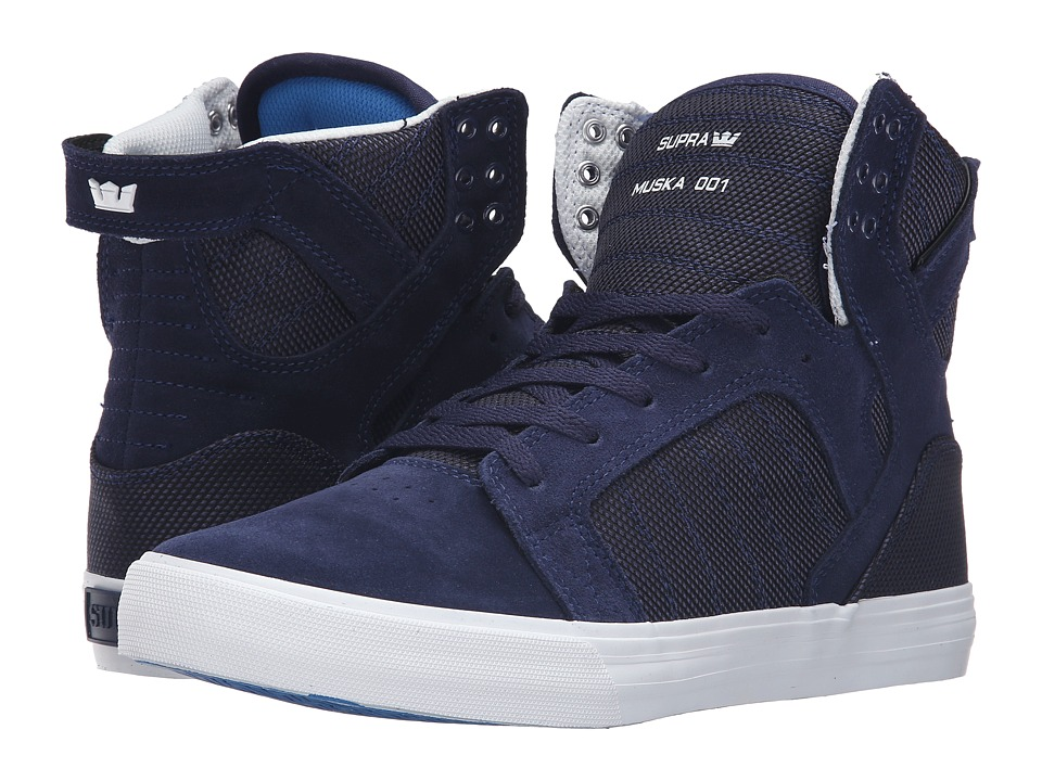 Supra - Skytop (Navy Two-Tone/White) Men's Skate Shoes