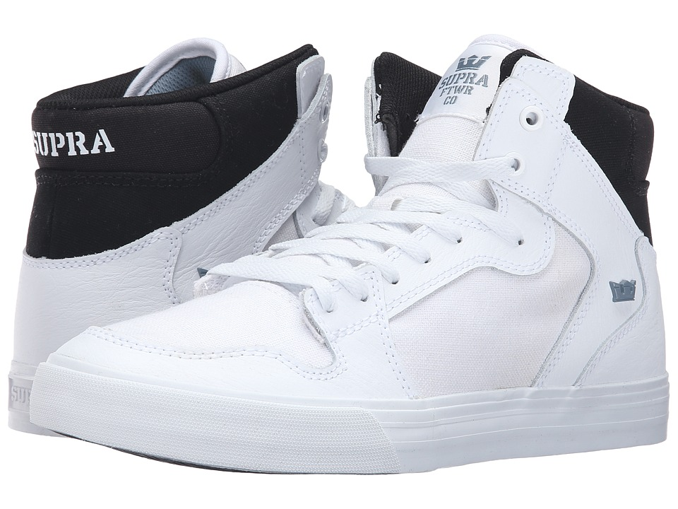 Supra - Vaider (White/Black/White) Skate Shoes