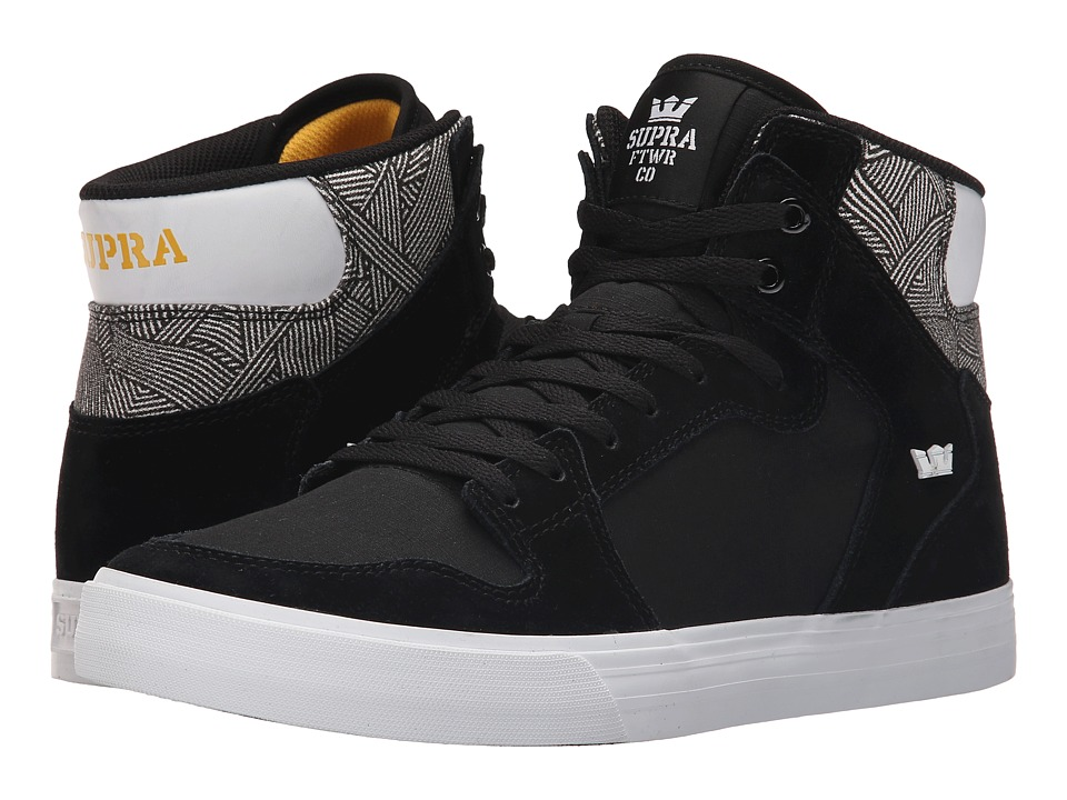 Supra - Vaider (Black/Print/White) Skate Shoes