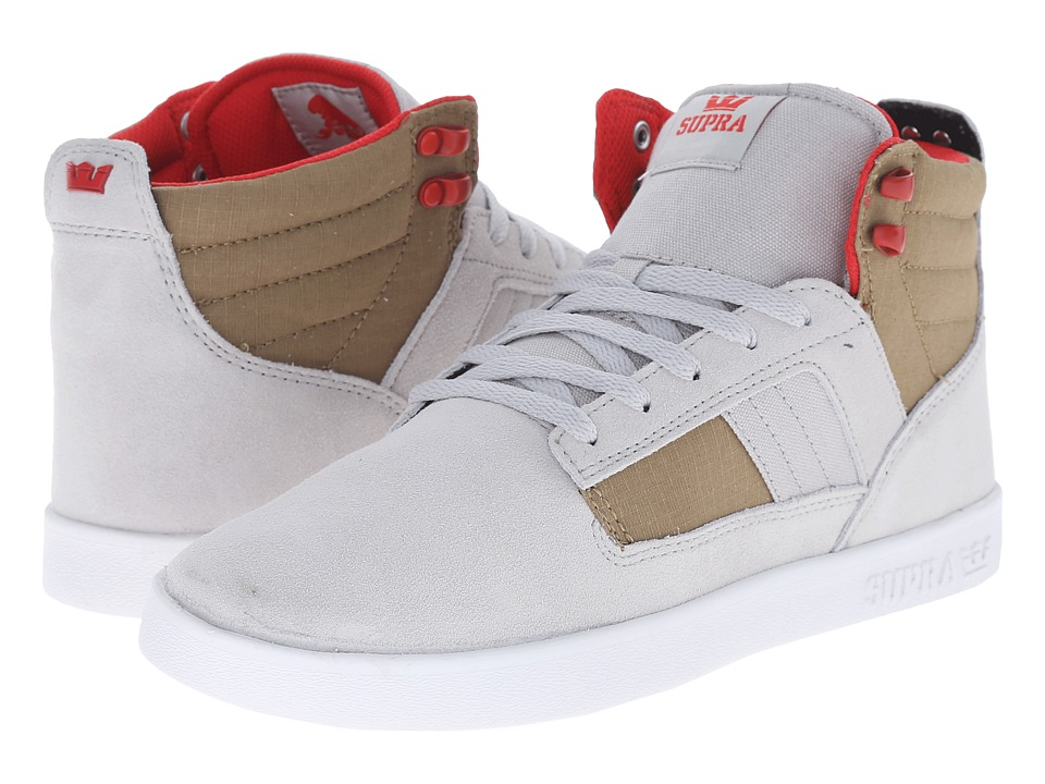 Supra - Bandit (Light Grey/Khaki/White) Men's Skate Shoes