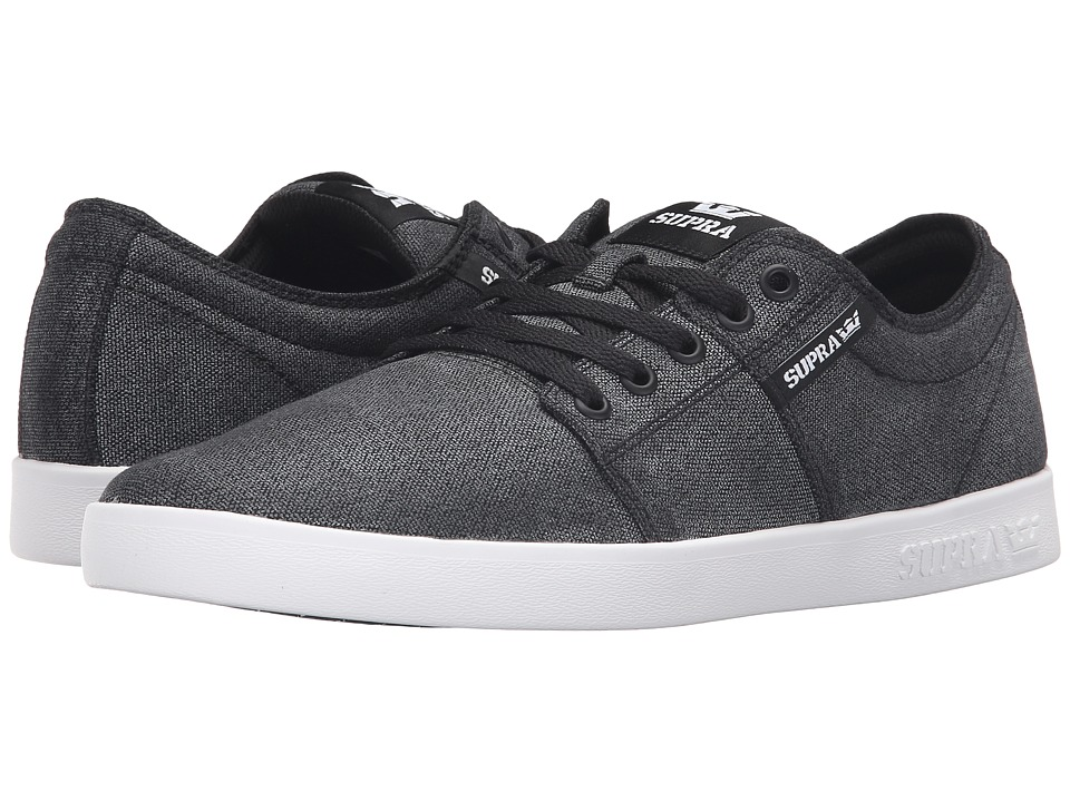 Supra - Stacks II (Grey/White/Ballistic Nylon) Men's Skate Shoes