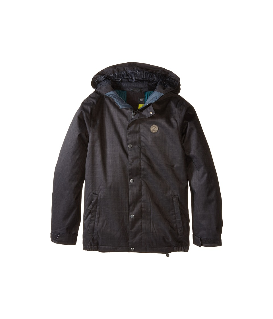 Volcom Kids - Wolf Insulated Jacket (Little Kids/Big Kids) (Black) Boy's Coat