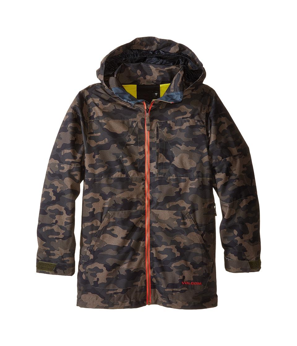 Volcom Kids - Watson Jacket (Little Kids/Big Kids) (Army Green Combo) Boy