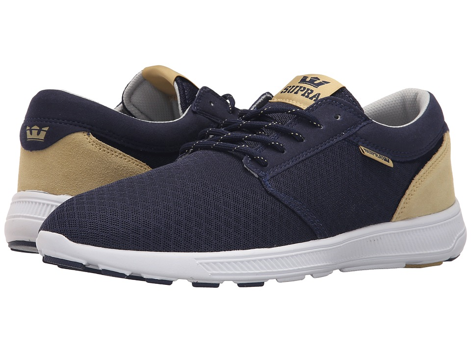 Supra - Hammer Run (Navy/Hemp/White) Men's Skate Shoes