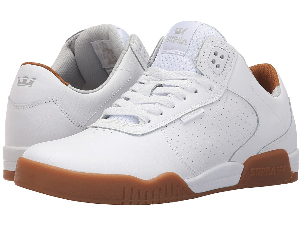 Supra Ellington (White/Gum/Leather) Men