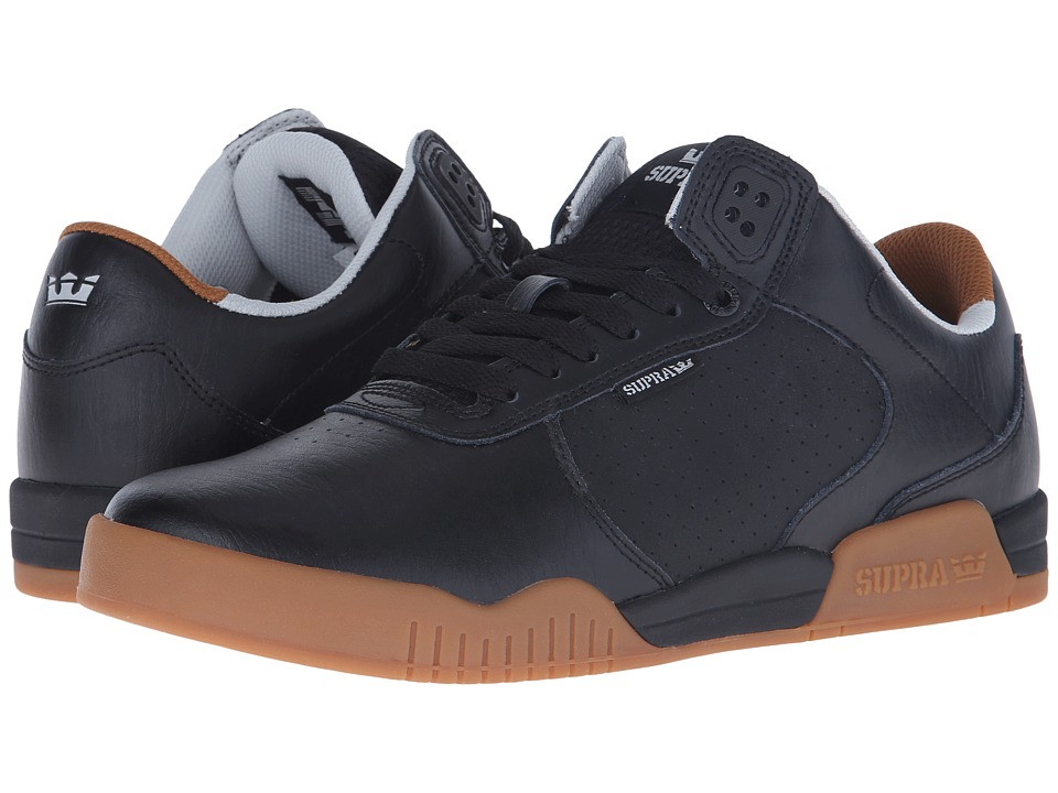 Supra - Ellington (Black/Gum/Leather) Men's Shoes