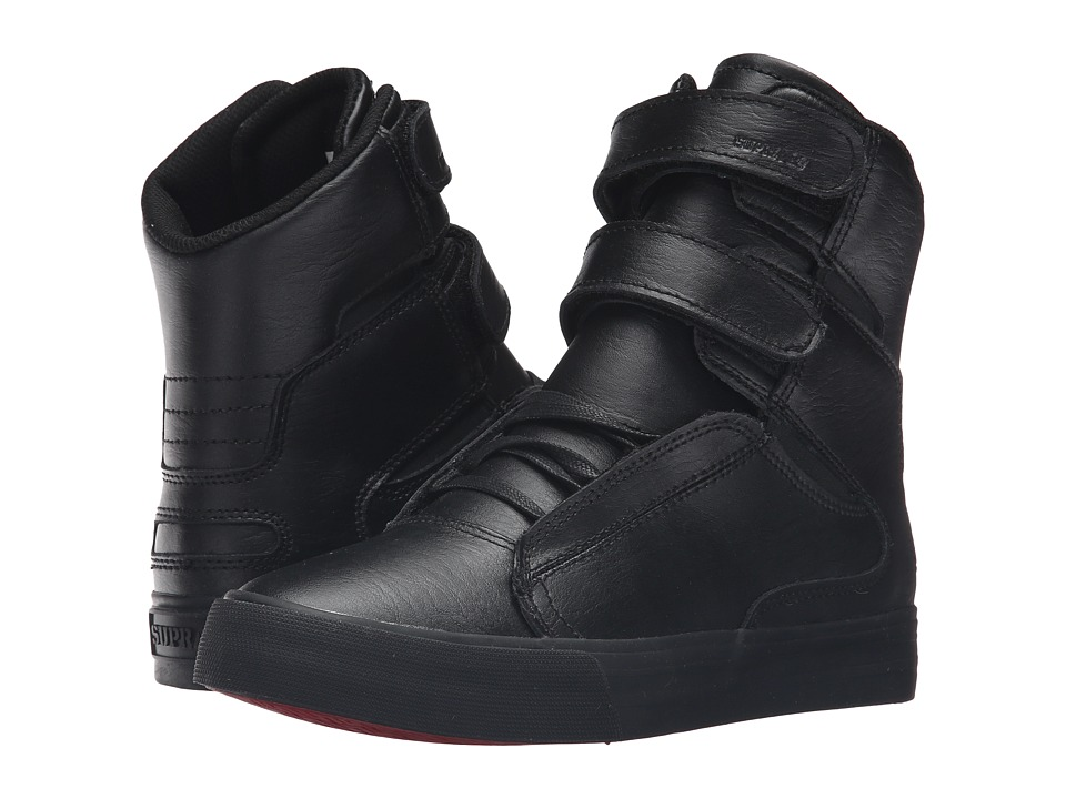Supra - Society II (Black/Black/Red) Women's Skate Shoes