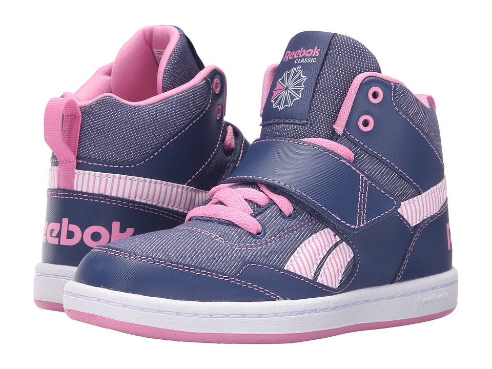Reebok Kids - Reebok Mission (Little Kid/Big Kid) (Midnight Blue/Icono Pink/White) Girl's Shoes