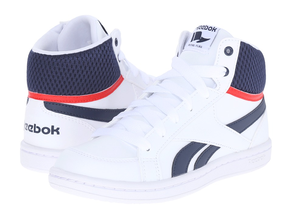 Reebok Kids - Reebok Royal Prime Mid (Little Kid/Big Kid) (White/Navy/Motor Red) Boys Shoes