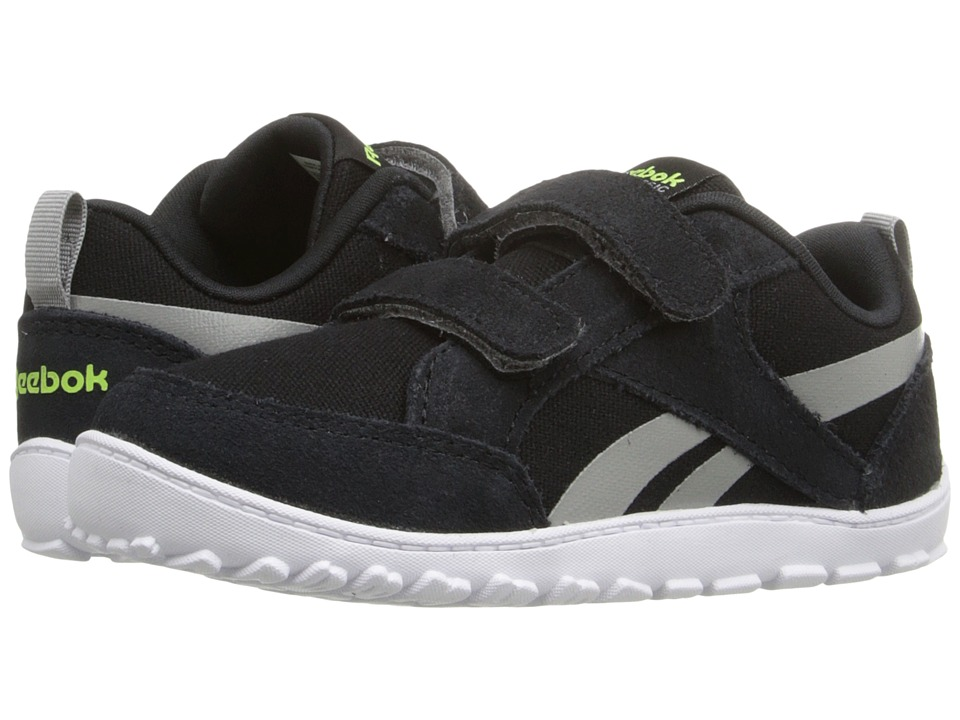 Reebok Kids - Reebok Ventureflex Chase (Infant/Toddler) (Black/Tin Grey/Solar Yellow/White) Boys Shoes