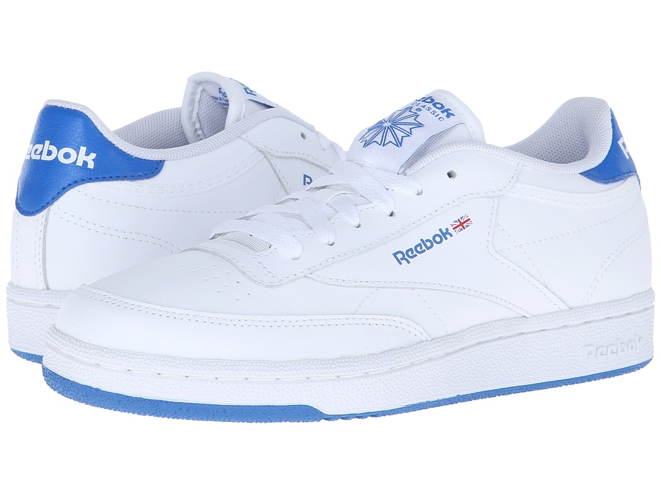 Reebok Kids - Club C (Big Kid) (White/Blue Sport) Kids Shoes