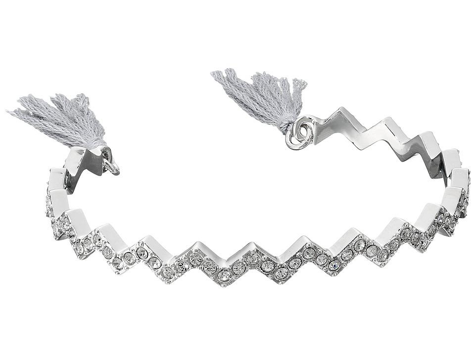 Cole Haan - Pave Zig Zag Pull Tie Bracelet (Silver/Crystal/Canyon Rose) Bracelet