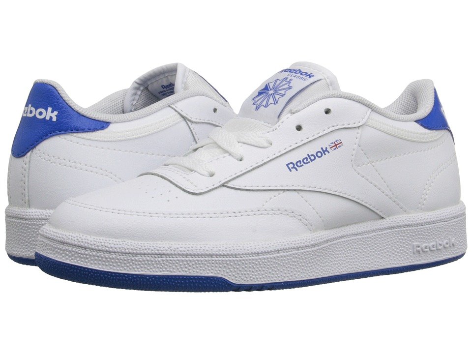 Reebok Kids - Club C (Little Kid) (White/Blue Sport) Kids Shoes