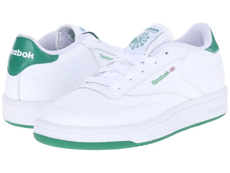 Reebok Kids - Club C (Little Kid) (White/Basil Green) Kids Shoes