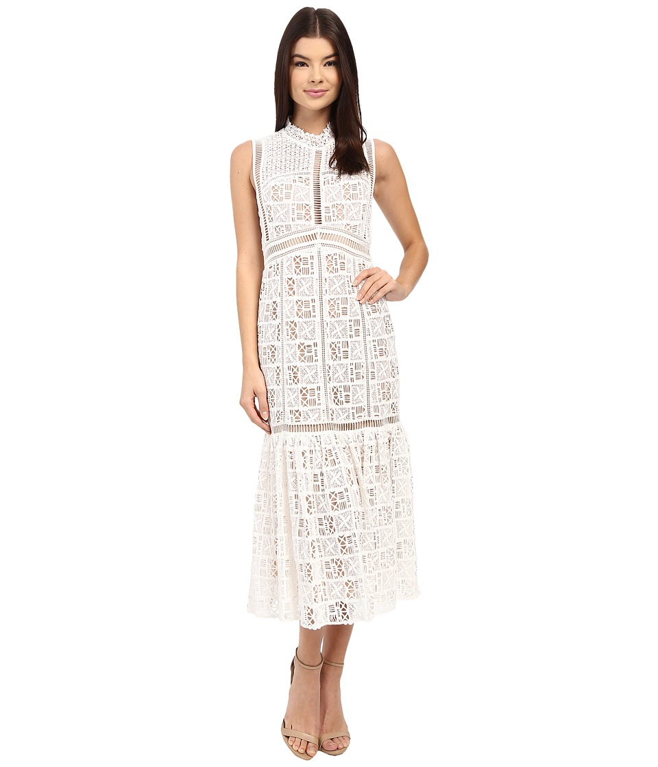 Rebecca Taylor - Sleeveless Crochet Lace Dress (Off-White) Women's Dress