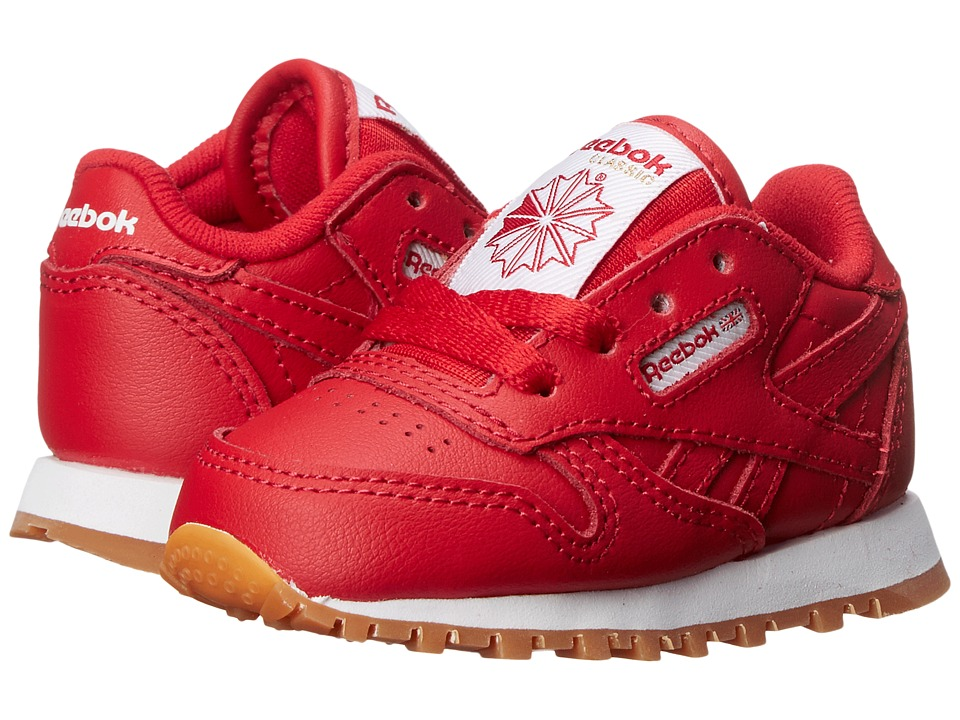 Reebok Kids - Classic Leather Gum (Infant/Toddler) (Scarlett/Gum) Kids Shoes