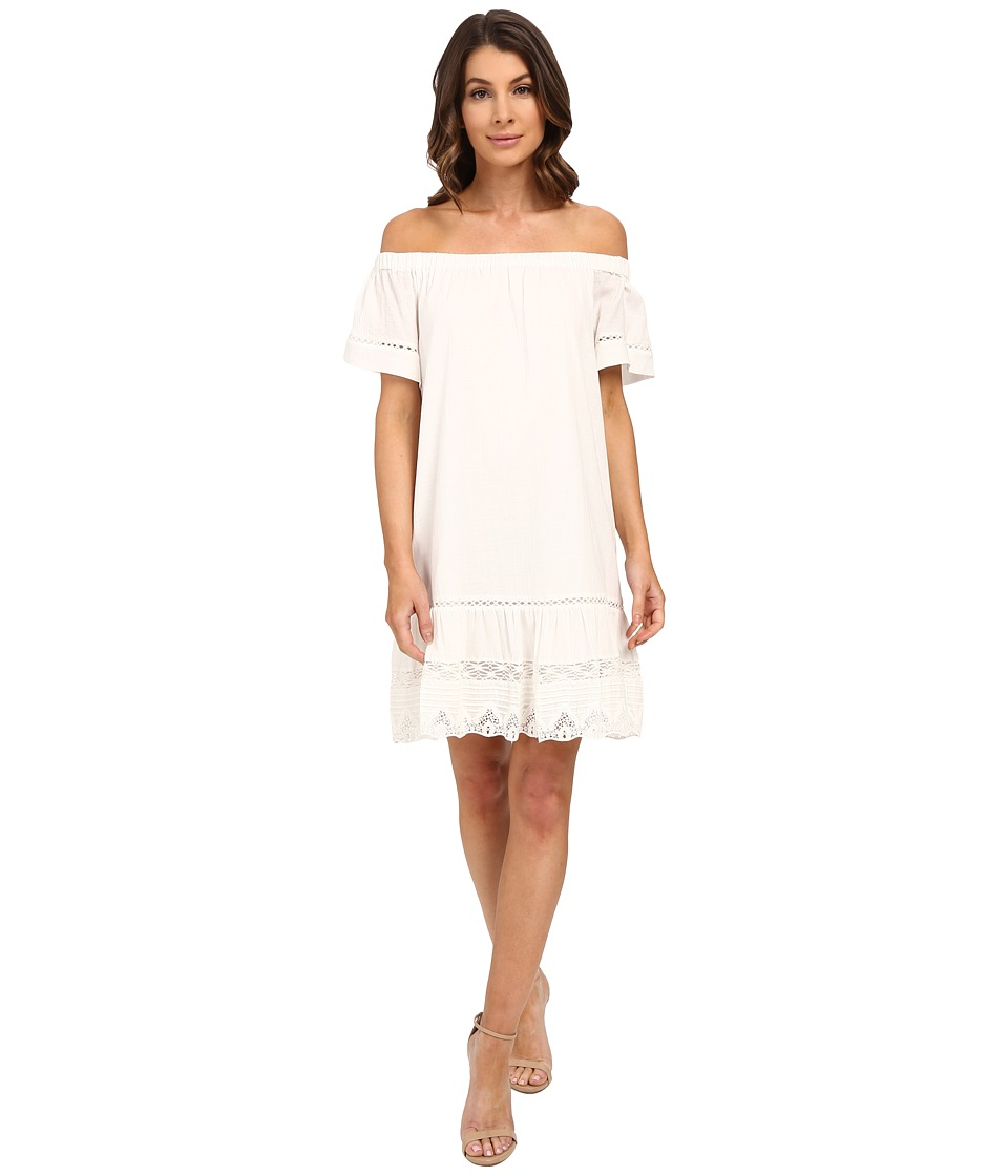 Rebecca Taylor - Off Shoulder Cotton Dress (Snow) Women's Dress