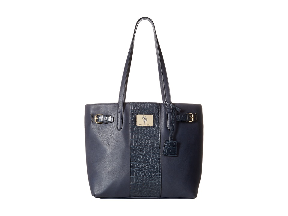 U.S. POLO ASSN. - Dillon Classic Saddle Tote (Navy) Tote Handbags