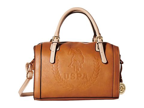 U.S. POLO ASSN. - Billy Signature Logo Embossed Satchel (Cognac/Vachetta) Satchel Handbags