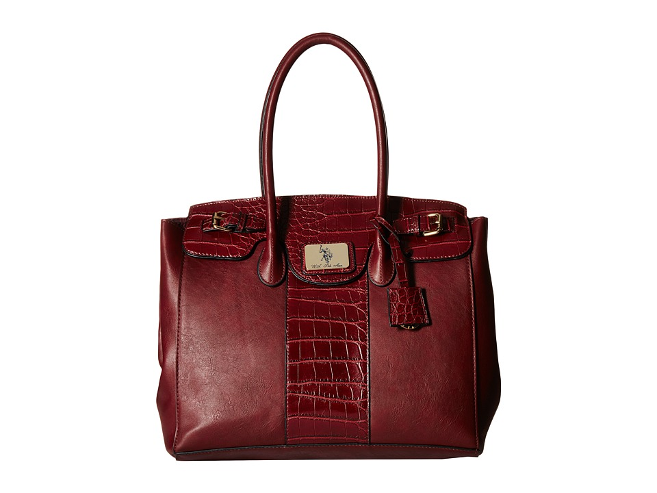 U.S. POLO ASSN. - Dillon Classic Saddle Large Satchel (Wine) Satchel Handbags