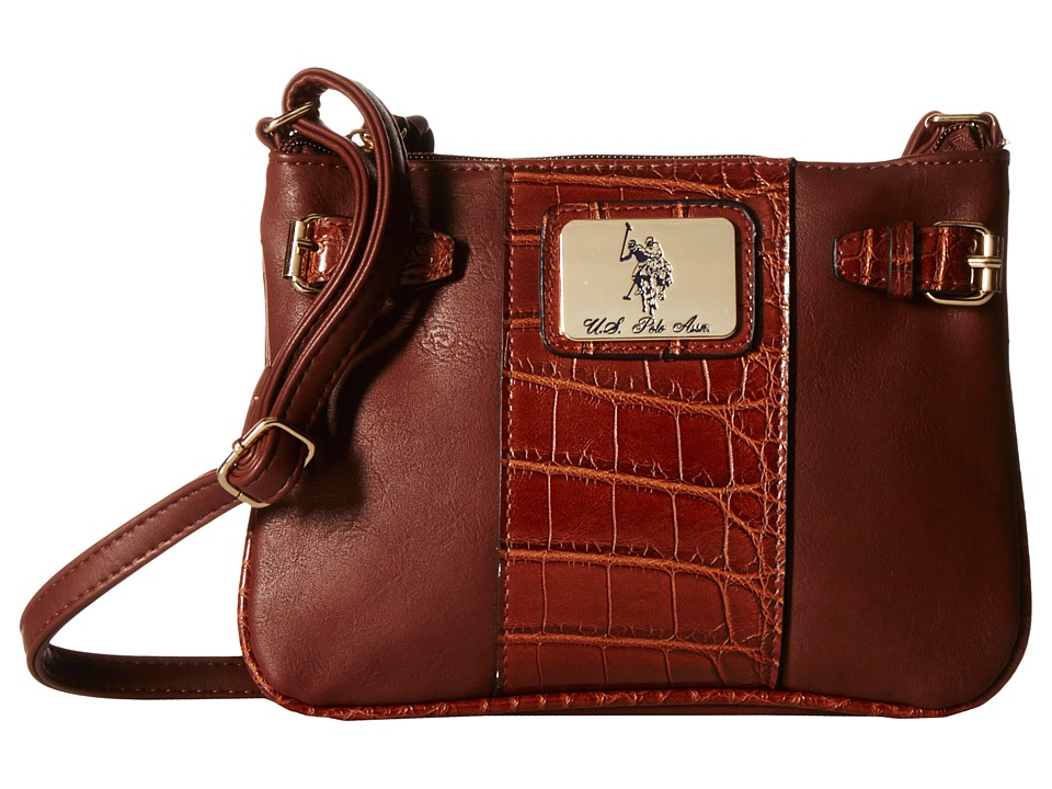 U.S. POLO ASSN. - Dillon Classic Saddle Shoulder Bag (Chocolate) Cross Body Handbags