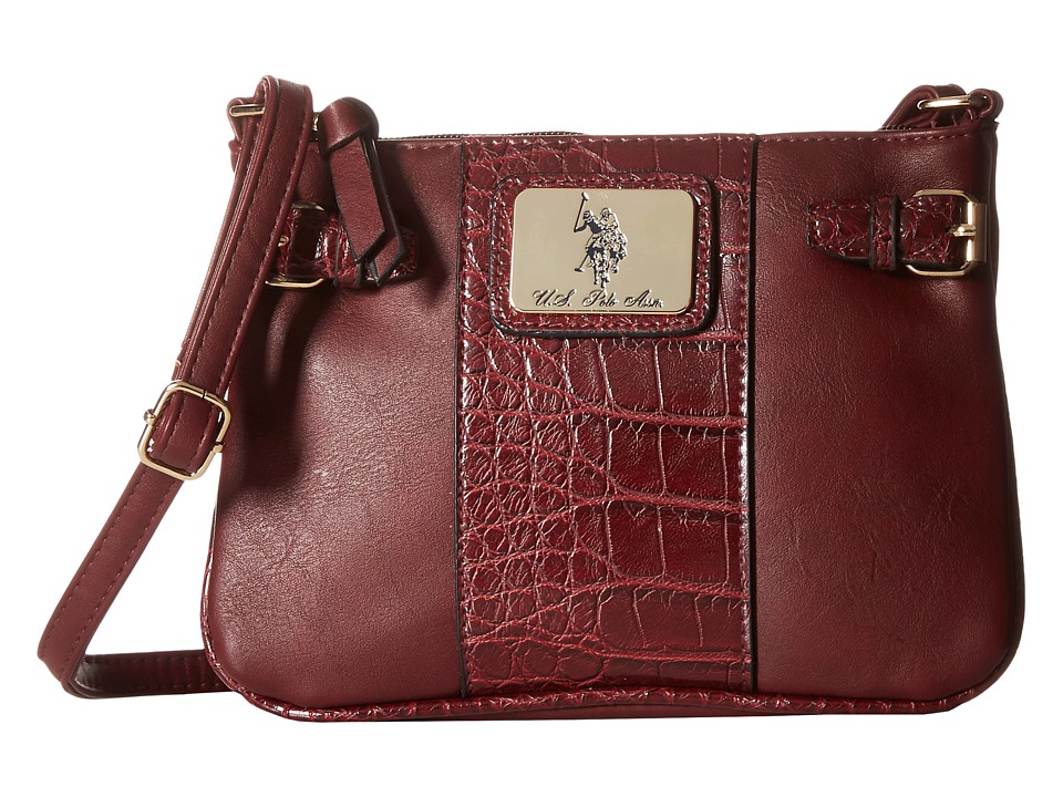 U.S. POLO ASSN. - Dillon Classic Saddle Shoulder Bag (Wine) Cross Body Handbags