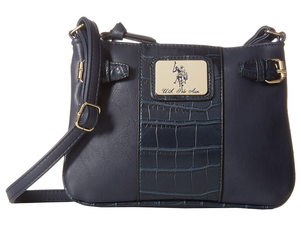 U.S. POLO ASSN. - Dillon Classic Saddle Shoulder Bag (Navy) Cross Body Handbags