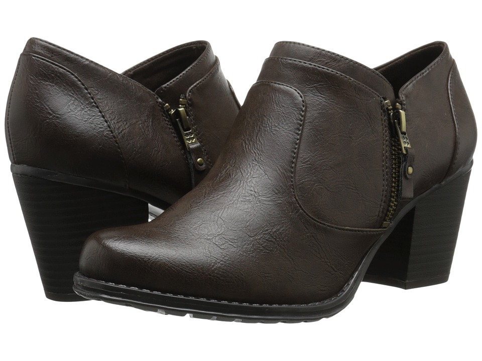 Naturalizer - Trust (Dark Brown Smooth) Women's Zip Boots
