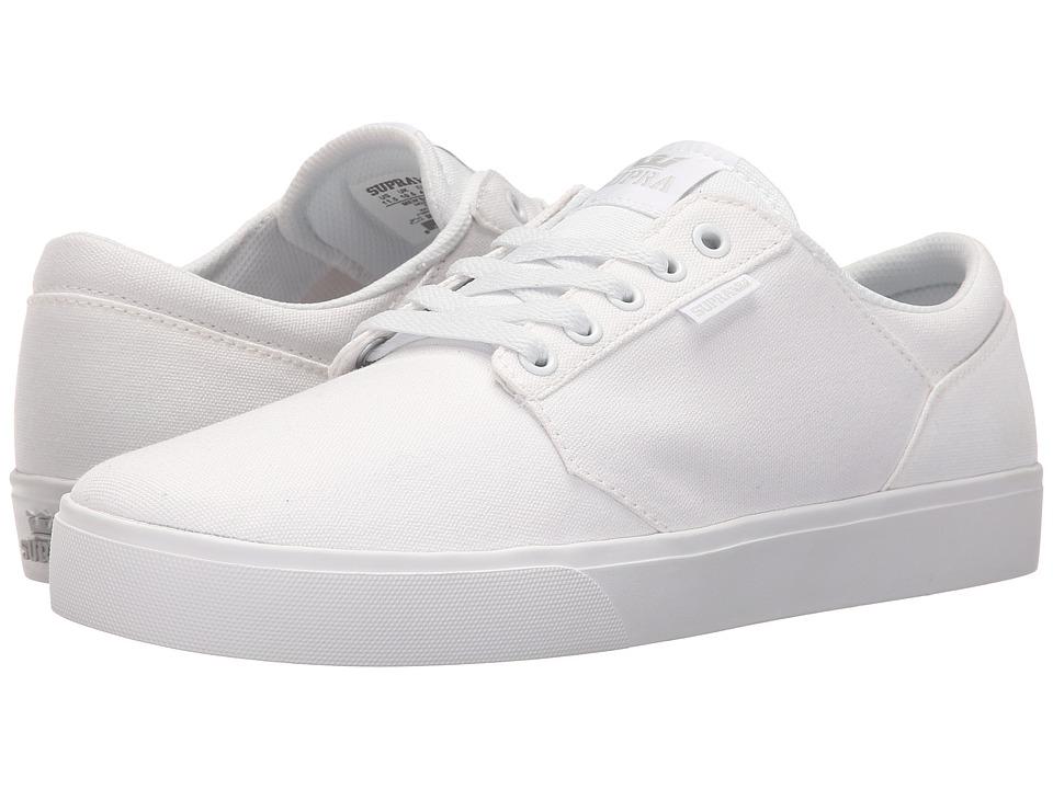Supra - Yorek Low (White/White) Men's Skate Shoes