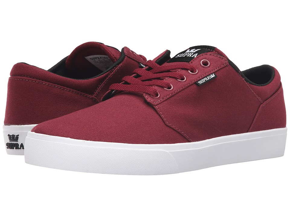 Supra - Yorek Low (Burgundy/White) Men's Skate Shoes