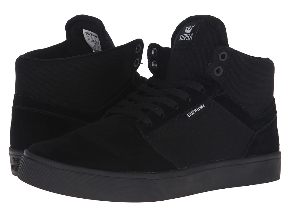 Supra - Yorek Hi (Black/Black/Black) Men's Skate Shoes