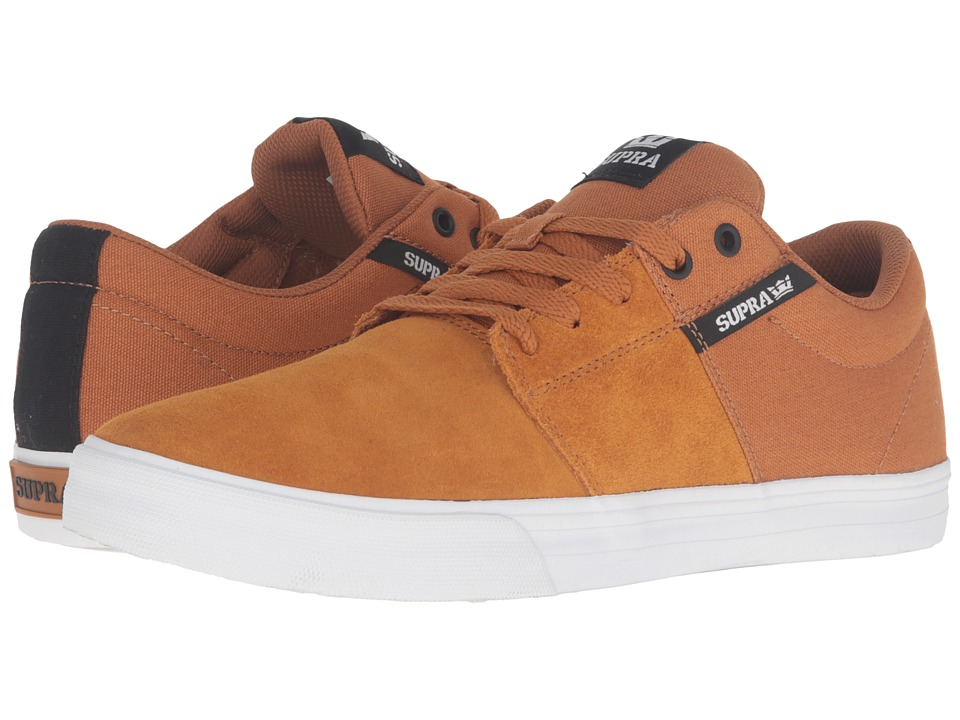 Supra - Stacks Vulc II (Cathay Spice/Black/White) Men's Skate Shoes