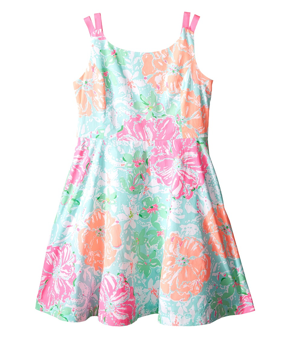 Lilly Pulitzer Kids - Charlie Dress (Toddler/Little Kids/Big Kids) (Poolside Blue Beach Walk) Girl's Dress