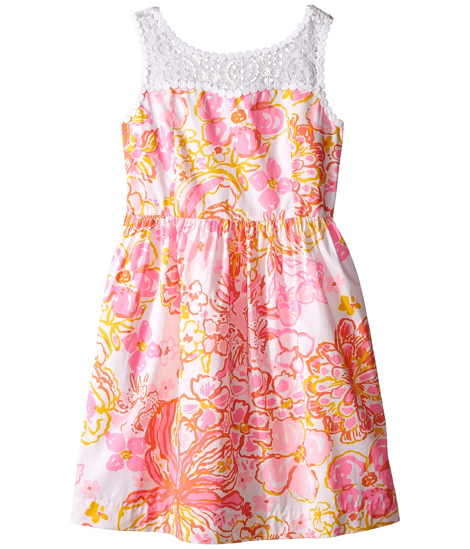Lilly Pulitzer Kids - Mini Raegan Dress (Toddler/Little Kids/Big Kids) (Resort White Happiness Is) Girl's Dress