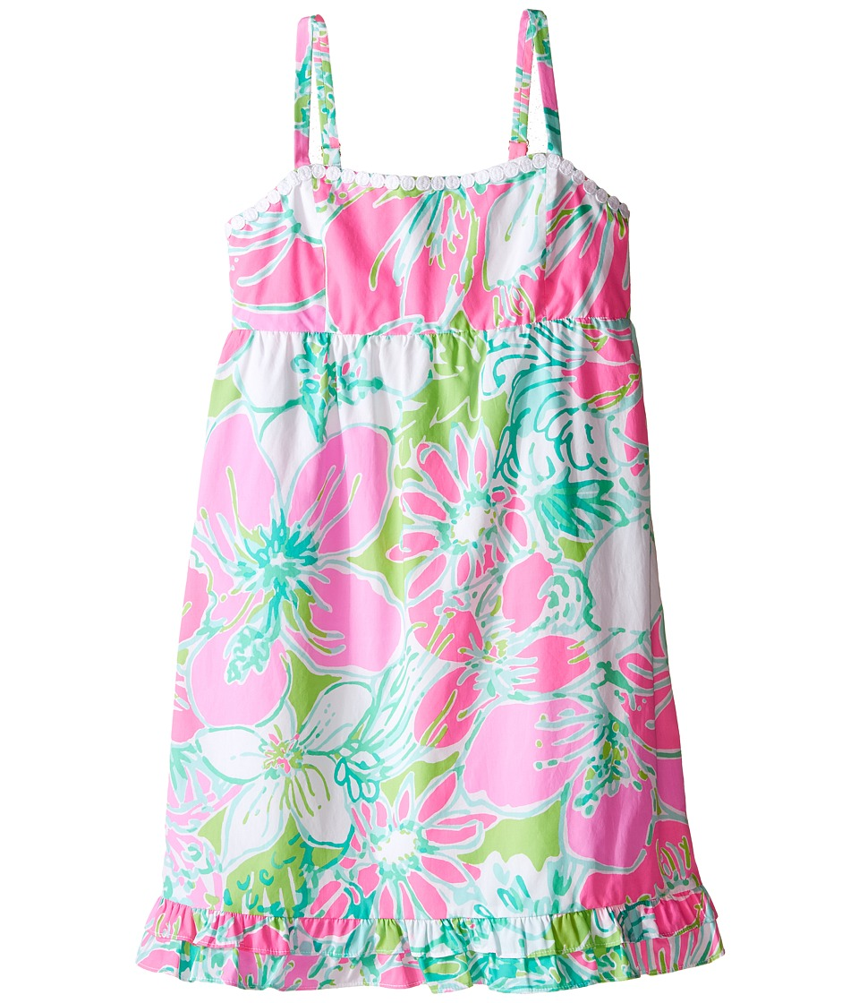 Lilly Pulitzer Kids - Fifi Dress (Toddler/Little Kids/Big Kids) (Flamingo Pink Dont Give A Cluck) Girl's Dress