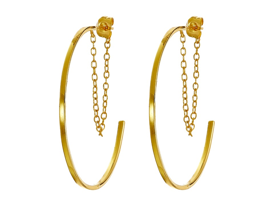 gorjana - Cameron Layered Hoops (Gold) Earring