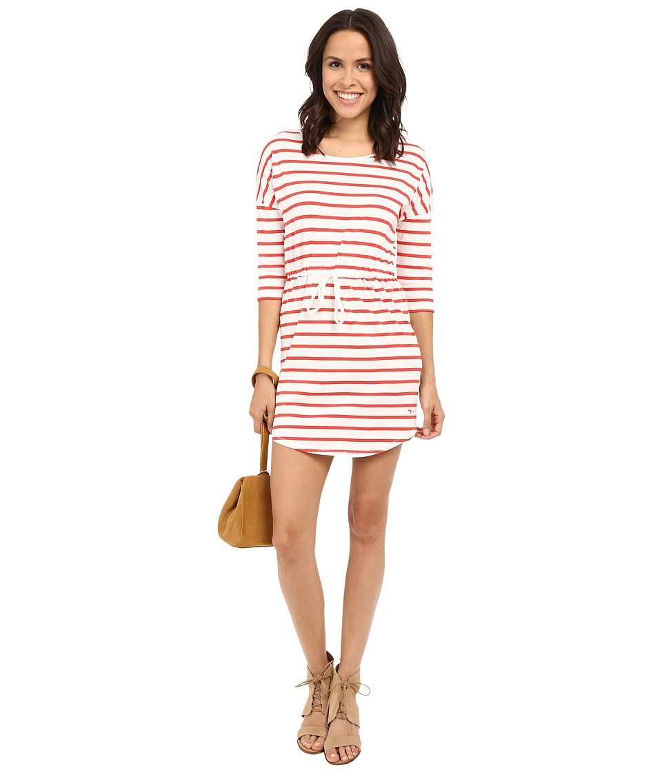 ONLY - May 3/4 Sleeve Dress (Bittersweet (Striped)) Women's Dress